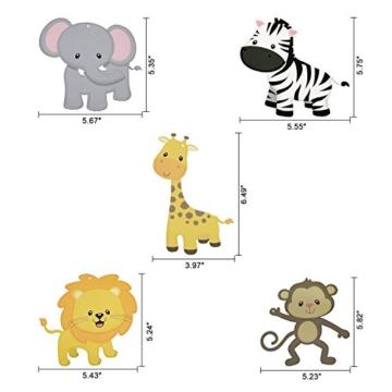 Konsait Tier Party deko Hängedekoration Folie Spiral Girlanden für Kinderparty Junge und Mädchen Geburtstags Dekoration, 30 teilig Set - 3