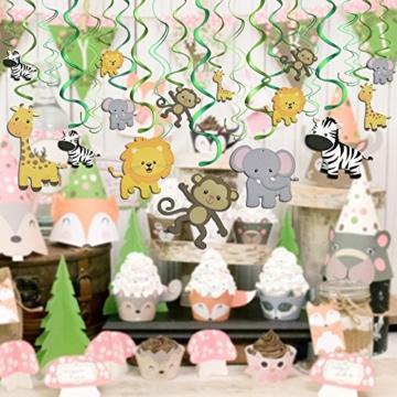 Konsait Tier Party deko Hängedekoration Folie Spiral Girlanden für Kinderparty Junge und Mädchen Geburtstags Dekoration, 30 teilig Set - 4