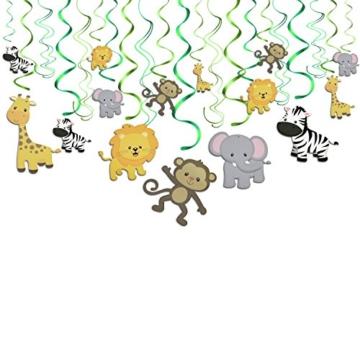 Konsait Tier Party deko Hängedekoration Folie Spiral Girlanden für Kinderparty Junge und Mädchen Geburtstags Dekoration, 30 teilig Set - 1