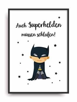 Kunstdruck SUPERHELD Poster Bild ungerahmt DIN A4 Geschenk - 1