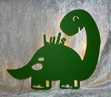 Led Dinolampe Lampe Deko Kinder Wandlampe Dino mit Name personalisiert Geschenke für Dinosaurier Kinderzimmer Dinozimmer Jungen Mädchen - 2