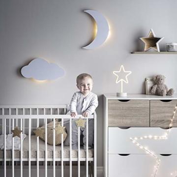 LED Wolke Schlafzimmer Nachtlicht warmweiß Timer batteriebetrieben Lights4fun - 3