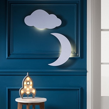LED Wolke Schlafzimmer Nachtlicht warmweiß Timer batteriebetrieben Lights4fun - 4