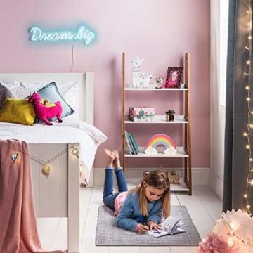 Lights4fun 14er LED Regenbogen Kinderzimmer Nachtlicht warmweiß Timer Batteriebetrieb 25cm - 2