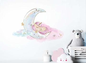 Little Deco Bild Einhorn I Mond & Sterne I A4-21 x 29,7 cm I Baby Wandbilder Kinderzimmer Wandtattoo Babyzimmer Deko Mädchenzimmer Wandsticker Kinder DL167 - 3