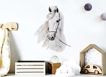 Little Deco Wandaufkleber Pferdekopf I A4-21 x 29,7 cm I Wandbilder Baby Deko Mädchenzimmer Babyzimmer Mädchen Kinderzimmer Wandtattoo Wandsticker Kinder DL176 - 2