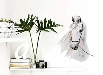 Little Deco Wandaufkleber Pferdekopf I A4-21 x 29,7 cm I Wandbilder Baby Deko Mädchenzimmer Babyzimmer Mädchen Kinderzimmer Wandtattoo Wandsticker Kinder DL176 - 3