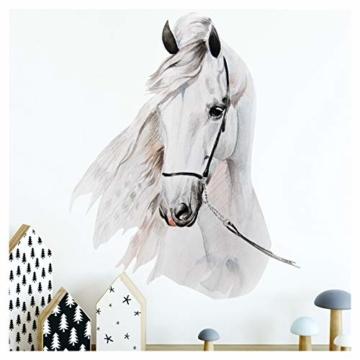 Little Deco Wandaufkleber Pferdekopf I A4-21 x 29,7 cm I Wandbilder Baby Deko Mädchenzimmer Babyzimmer Mädchen Kinderzimmer Wandtattoo Wandsticker Kinder DL176 - 1