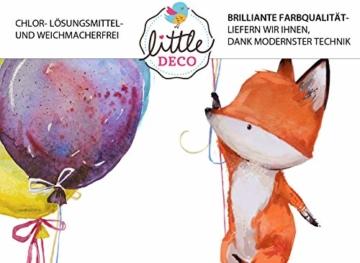 Little Deco Wandtattoo Fuchs & Spruch Fliege zum Glück I A4-21 x 29,7 cm I Luftballons Wandbilder Kinderzimmer Deko Babyzimmer Junge Wandsticker Kinder DL163 - 4