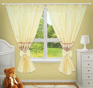 Luxus Deko Vorhänge für Baby-Raum passenden mit Unser Kindergarten Betten Sets (Fenster Creme) - 1