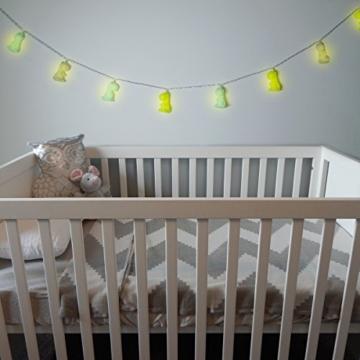 Navaris LED Lichterkette Dino Design - 2m Länge - Süße Nachtlicht Minilichterkette für Kinder mit warmweißem Licht - Lichter Kette - Grün - 2