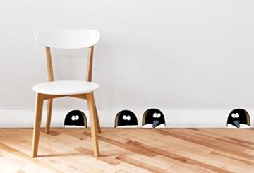 Plage Wandaufkleber-Kinder-Mauseloch Dekoration für Sockel, 2 Blätter 29,7 x 21 cm, Vinyl, Colorful 29.7 x 0.1 x 21 cm - 2