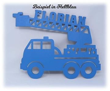 Schlummerlicht24 Led Feuerwehr Wagen - Feuerwehrauto Auto Name Geschenk Deko Feuerwehrzimmer Kinderzimmer Geburtstagsgeschenk Junge - 3