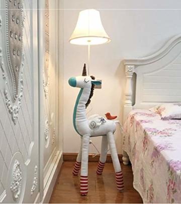 SMC Stehleuchten Kinderzimmer Cartoon Einhorn Stehlampe Schlafzimmer Moderne Minimalistische Nachttischlampe Kreative Wohnzimmer Studie Dekoration Vertikale Tischlampe - 1