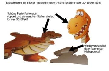 Stickerkoenig Wandtattoo 3D Sticker Wandsticker Kinderzimmer - niedliche Pferde XXL Set - Deko auch für Fenster, Schränke, Türen etc auf Bogen - 2