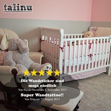 TALINU Wandsticker für Baby- oder Kinder-Zimmer; Motiv: Baum mit Blättern und Tieren – haftet an allen glatten und sauberen Oberflächen– Wand-Aufkleber, Wand-Tattoo, Wanddekoration - 5