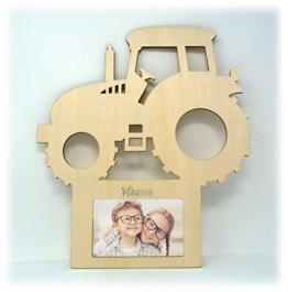 Traktor Auto Wand Tür-Schild Bilderrahmen Geschenke für das Baby-Zimmer Kinder-Zimmer mit Namen - Zum selbst bemalen geeignet - 1