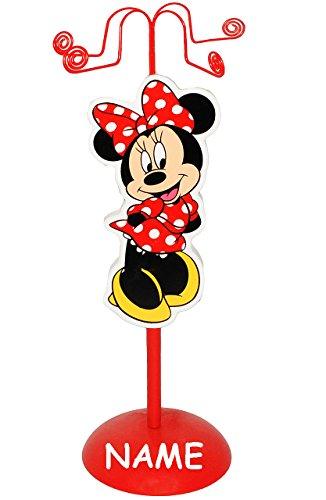 Unbekannt Schmuckbaum aus Holz - für Ketten + Armbänder -  Disney Minnie Mouse  - zum Hinstellen - Tischausteller - Deko für Kinder + Erwachsene - Kinderzimmer - Kind.. - 3