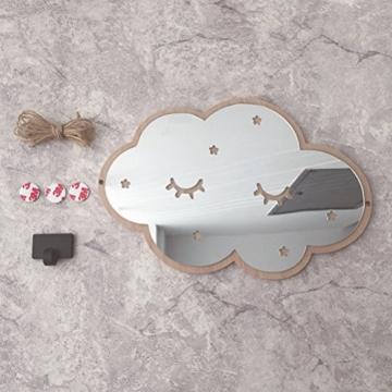 VORCOOL Wolken Spiegel 3D Kinderspiegel Acryl Wolken Wanddekoration für Kinderzimmer Schlafzimmer - 4