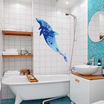 WandSticker4U- Wandtattoo riesige DELFIN | Wandbild: 150x60cm | Wandsticker Delphin Unterwasserwelt Fische Ozean Aquarium See Meer Poster | Fliesenaufkleber Wand Deko Badezimmer Bad Kinderzimmer - 2