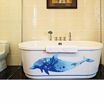 WandSticker4U- Wandtattoo riesige DELFIN | Wandbild: 150x60cm | Wandsticker Delphin Unterwasserwelt Fische Ozean Aquarium See Meer Poster | Fliesenaufkleber Wand Deko Badezimmer Bad Kinderzimmer - 6