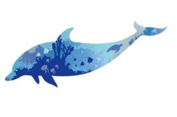 WandSticker4U- Wandtattoo riesige DELFIN | Wandbild: 150x60cm | Wandsticker Delphin Unterwasserwelt Fische Ozean Aquarium See Meer Poster | Fliesenaufkleber Wand Deko Badezimmer Bad Kinderzimmer - 8