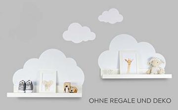 Wandtattoo Wolken in weiß für IKEA Regalbrett Ribba/Mosslanda 55 cm Bilderleiste für Babyzimmer Kinderzimmer – Aufkleber für Wand und Tapete - 2
