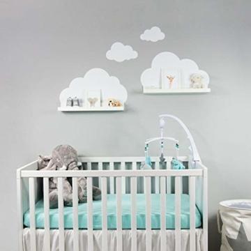 Wandtattoo Wolken in weiß für IKEA Regalbrett Ribba/Mosslanda 55 cm Bilderleiste für Babyzimmer Kinderzimmer – Aufkleber für Wand und Tapete - 7
