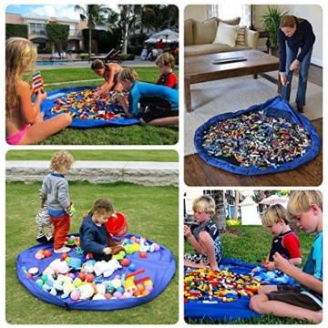 2er Set Kinder Aufräumsack, XXL Baby Spieldecke Spielsack Spielzeugteppich Spielzeug Beutel, Spielmatte Speicher Tasche Aufbewahrung Beutel Spielzeugsack für Kinderzimmer Outdoor Picknick Teppich - 3