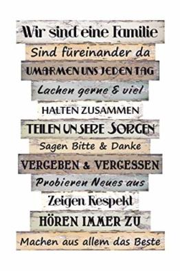 Bild Planken-Schild - Familienregeln ~ Lv KW 11 - 1