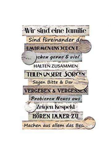 Bild Planken-Schild - Familienregeln ~ Lv KW 11 - 2