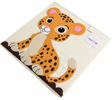 ELLEMOI Aufbewahrungsboxen für Kinderzimmer Große Kapazität Faltbar Aufbewahrung Spielzeug, Kleidung, Schuhe Aufbewahrungsbox (Leopard) - 2