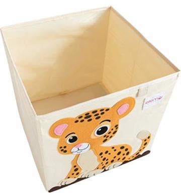 ELLEMOI Aufbewahrungsboxen für Kinderzimmer Große Kapazität Faltbar Aufbewahrung Spielzeug, Kleidung, Schuhe Aufbewahrungsbox (Leopard) - 3