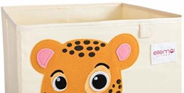 ELLEMOI Aufbewahrungsboxen für Kinderzimmer Große Kapazität Faltbar Aufbewahrung Spielzeug, Kleidung, Schuhe Aufbewahrungsbox (Leopard) - 4