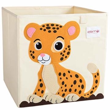ELLEMOI Aufbewahrungsboxen für Kinderzimmer Große Kapazität Faltbar Aufbewahrung Spielzeug, Kleidung, Schuhe Aufbewahrungsbox (Leopard) - 1