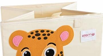 ELLEMOI Aufbewahrungsboxen für Kinderzimmer Große Kapazität Faltbar Aufbewahrung Spielzeug, Kleidung, Schuhe Aufbewahrungsbox (Leopard) - 5