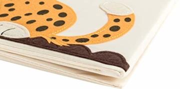 ELLEMOI Aufbewahrungsboxen für Kinderzimmer Große Kapazität Faltbar Aufbewahrung Spielzeug, Kleidung, Schuhe Aufbewahrungsbox (Leopard) - 6