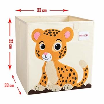 ELLEMOI Aufbewahrungsboxen für Kinderzimmer Große Kapazität Faltbar Aufbewahrung Spielzeug, Kleidung, Schuhe Aufbewahrungsbox (Leopard) - 7