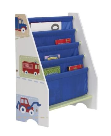 Fahrzeuge - Hängefach-Bücherregal für Kinder – Büchergestell für das Kinderzimmer - 2