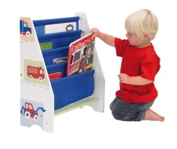 Fahrzeuge - Hängefach-Bücherregal für Kinder – Büchergestell für das Kinderzimmer - 3