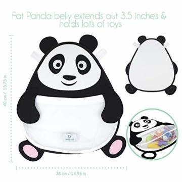 Nooni Care Bad Spielzeug Aufbewahrung, Premium Kinder Bad Spielzeugkorb Dicker Panda, mit Zwei starken Saugnäpfen - 2