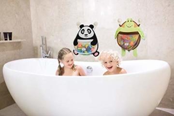 Nooni Care Bad Spielzeug Aufbewahrung, Premium Kinder Bad Spielzeugkorb Dicker Panda, mit Zwei starken Saugnäpfen - 3