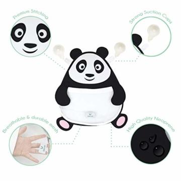 Nooni Care Bad Spielzeug Aufbewahrung, Premium Kinder Bad Spielzeugkorb Dicker Panda, mit Zwei starken Saugnäpfen - 4