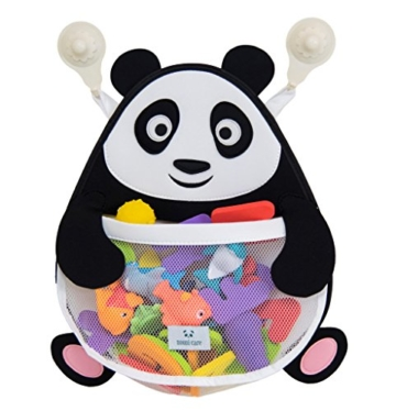 Nooni Care Bad Spielzeug Aufbewahrung, Premium Kinder Bad Spielzeugkorb Dicker Panda, mit Zwei starken Saugnäpfen - 1
