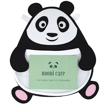 Nooni Care Bad Spielzeug Aufbewahrung, Premium Kinder Bad Spielzeugkorb Dicker Panda, mit Zwei starken Saugnäpfen - 7