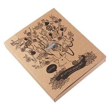 NUOLUX Deko Hirschgeweih Baum Design Armband Halskette Halter / Black Jewelry Organizer Stand w / Ring Tablett (schwarz) - 7