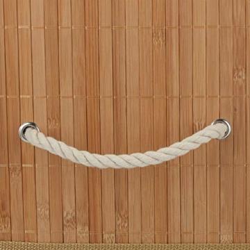 Relaxdays Aufbewahrungskorb 5er Set, mit Deckel + Klettverschluss, Bambuskorb, dekorative Aufbewahrungsbox, naturfarben - 5