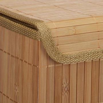 Relaxdays Aufbewahrungskorb 5er Set, mit Deckel + Klettverschluss, Bambuskorb, dekorative Aufbewahrungsbox, naturfarben - 6
