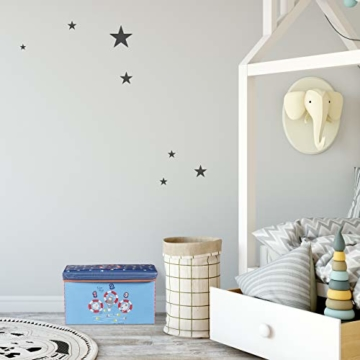 Relaxdays Sitzbox für Kinder, Faltbare Aufbewahrungsbox mit Stauraum, Prinzessin und Fee, 66 Liter, platzsparend, pink - 5