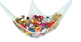 Speichernetz Spielzeug Hängematte Speichernetz für Kuscheltiere, Spielzeug Aufbewahrung geeignet für Kinderraum , Kinderspielzeug, Organisation & Hängender Organizer (weiß) - 1
